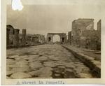 Italy; Pompeii; 1926; Street in Pompeii; Photograph by Harry W. Rockwell