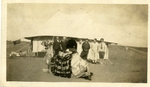 Israel; Bay of Acre; 1926; Tourists with Camel; Photograph by Harry W. Rockwell