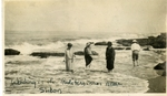 Lebanon; Sidon; 1926; Wading in the Mediterranean; Photograph by Harry W. Rockwell