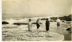 Lebanon; Sidon; 1926; Wading in the Mediterranean; Photograph