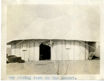 Egypt; Giza; 1926; Dining Tent; Photograph by Harry W. Rockwell