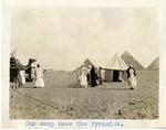 Egypt; Giza; 1926; Desert Camp Near Pyramids; Photograph by Harry W. Rockwell