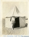 Egypt; Giza; 1926; Sleeping Tent; Photograph by Harry W. Rockwell