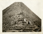 Egypt; Giza; 1926; Tourists on Pyramid; Photograph by Harry W. Rockwell