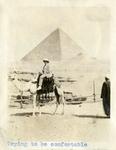 Egypt; Giza; 1926; Man on Camel; Photograph