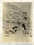 Egypt; Giza; 1926; Farag and the Great Pyramid; Photograph by Harry W. Rockwell