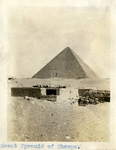 Egypt; Giza; 1926; Farag and the Great Pyramid of Cheops/Giza; Photograph by Harry W. Rockwell