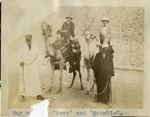 Egypt; Giza; 1926; Dr. and Mrs. Harry W. Rockwell on Camels; Photograph by Harry W. Rockwell