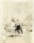Egypt; Giza; 1926; Dr. Harry W. Rockwell on Camel; Photograph by Harry W. Rockwell