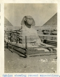 Egypt; Giza; 1926; Sphinx Excavation; Photograph by Harry W. Rockwell