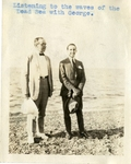 Middle East; 1926; Dr. Harry W. Rockwell and George on the Shore of the Dead Sea; Photograph by Harry W. Rockwell