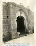 Middle East; West Bank; 1926; Entrance to Samaritan Inn; Photograph by Harry W. Rockwell
