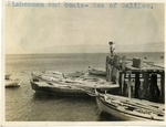 Israel; 1926; Fisherman and the Sea of Galilee; Photograph by Harry W. Rockwell
