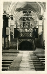 Israel; Nazareth; 1926; Interior of the Church of the Annunciation; Photograph by Harry W. Rockwell