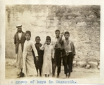 Israel; Nazareth; 1926; Group of Boys; Photograph by Harry W. Rockwell