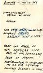 Speeches; Notes for Speech at Dunkirk High School; June 28th, 1954