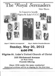 Advertisements; 2012-05-20 by The Royal Serenaders Male Chorus