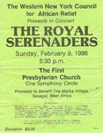 Advertisements; 1986-02-09 by The Royal Serenaders Male Chorus