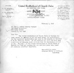 Correspondence; 1958-02-03 by The Royal Serenaders Male Chorus