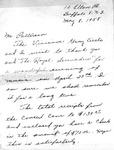 Correspondence; 1958-05-08