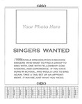 Flyer; Singers Wanted by The Royal Serenaders Male Chorus