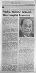 RS-obit; 1988-12-07; Willis, Fred (a)