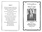 RS-obit; 1993-12-18; Capps, Brias by The Royal Serenaders Male Chorus