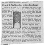 RS-obit; 1994-08-07; Stallings, Ernest by The Royal Serenaders Male Chorus