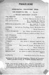 Program; 1950-03-26 by The Royal Serenaders Male Chorus
