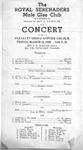Program; 1950-03-31 by The Royal Serenaders Male Chorus