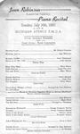 Program; 1950-07-16 by The Royal Serenaders Male Chorus