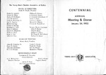 Program; 1952-01-24 by The Royal Serenaders Male Chorus