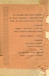 Program; 1955-05-01 by The Royal Serenaders Male Chorus
