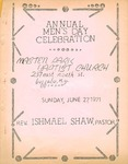 Program; 1971-06-27 by The Royal Serenaders Male Chorus
