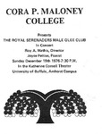 Program; 1976-12-19 by The Royal Serenaders Male Chorus