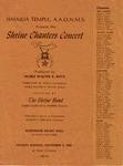 Program; 1980-11-09 by The Royal Serenaders Male Chorus