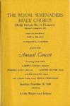Program; 1981-10-18 by The Royal Serenaders Male Chorus
