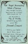 Program; 1982-11-28 by The Royal Serenaders Male Chorus