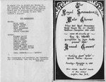 Program; 1983-12-11 by The Royal Serenaders Male Chorus
