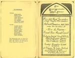 Program; 1985-11-17 by The Royal Serenaders Male Chorus