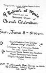 Program; 1986-06-08 by The Royal Serenaders Male Chorus