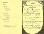 Program; 1986-11-23 by The Royal Serenaders Male Chorus