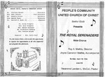 Program; 1993-04-18 by The Royal Serenaders Male Chorus