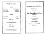 Program; 1995-06-04 by The Royal Serenaders Male Chorus