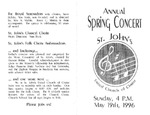 Program; 1996-05-19 by The Royal Serenaders Male Chorus