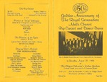 Program; 1996-08-10 by The Royal Serenaders Male Chorus