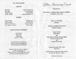 Program; 1996-11-10 by The Royal Serenaders Male Chorus