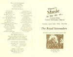 Program; 1998-04-26 by The Royal Serenaders Male Chorus