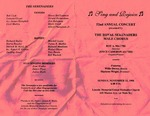 Program; 1998-12-15 by The Royal Serenaders Male Chorus