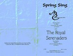 Program; 2000-04-02 by The Royal Serenaders Male Chorus